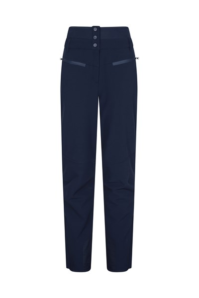Avalanche Womens High-Waisted Slim Fit Ski Pants - Navy