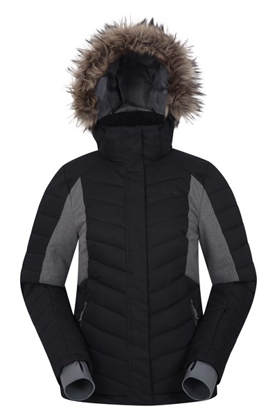 Powder Women Padded Ski Jacket - Black