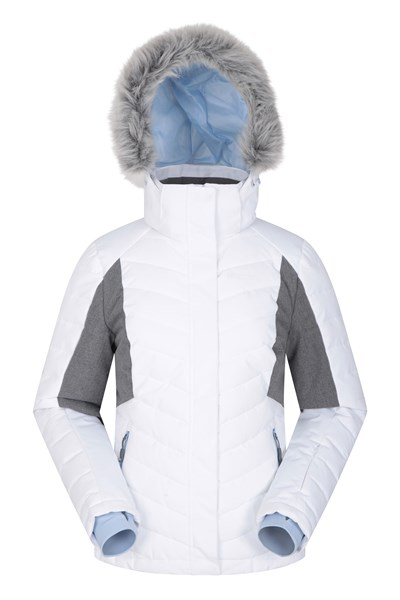 Powder Women Padded Ski Jacket - White