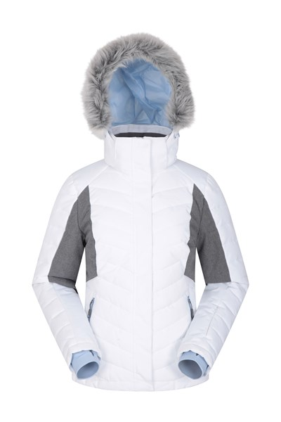 Powder Women Padded Ski Jacket - White