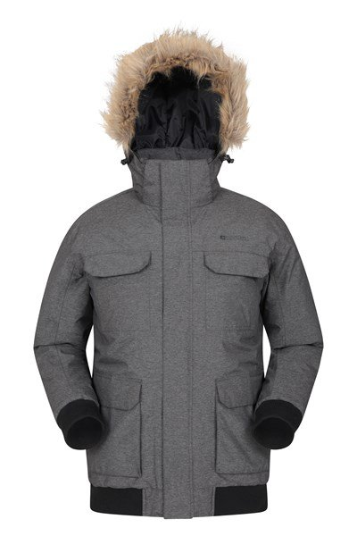 Glencoe Mens Padded Jacket - Grey
