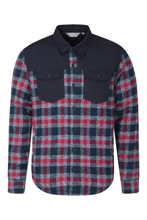 Flannel Padded Mens Shacket