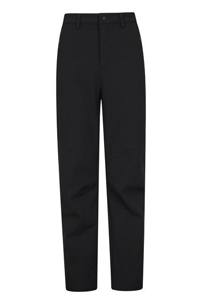 Softshell Mens Trousers - Short Length - Black