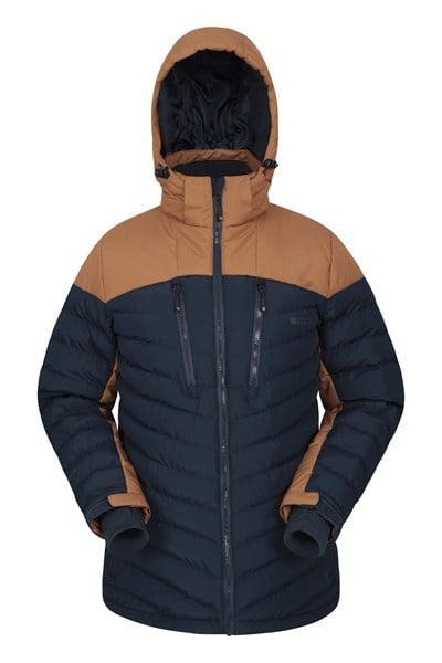 Vulcan Mens Padded Ski Jacket - Orange