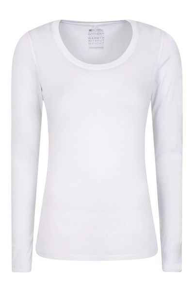 Keep The Heat Womens IsoTherm Thermal Top - White