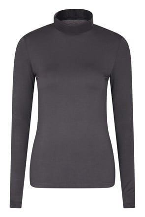 Keep The Heat Womens Roll Neck Top