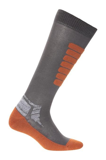 Mountain Warehouse Lightweight Men  Altitude Ski Sock In Burnt Orange 7-11