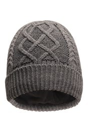 Mens Cable Knit Beanie