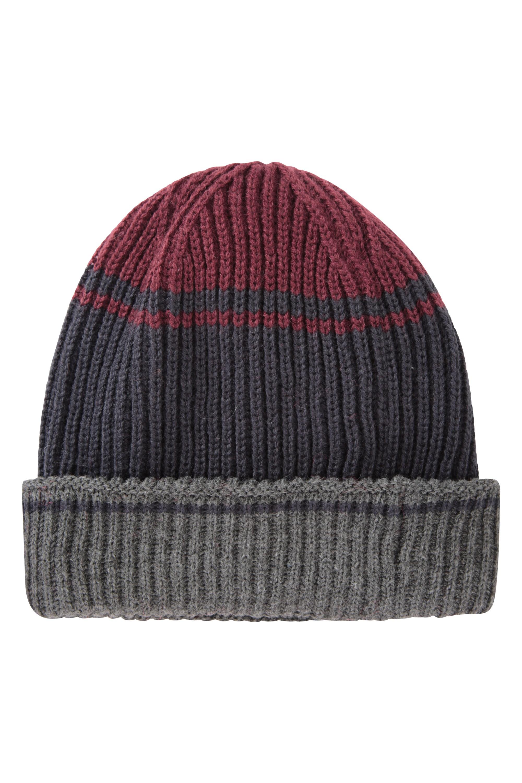 mit Fleece-Futter Mountain Warehouse Gefütterte Mirka-Beanie-Mütze für Männer