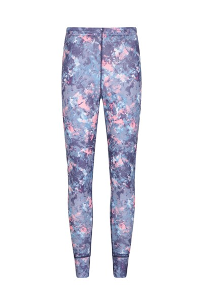 Talus Printed Womens Pants - Purple