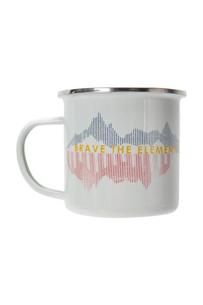 Brave Enamel Mug - Grey