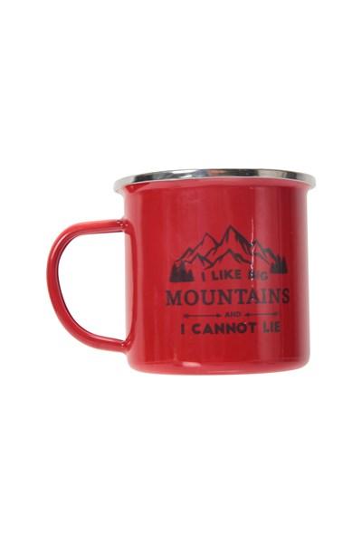 Big Mountains Enamel Mug - Red