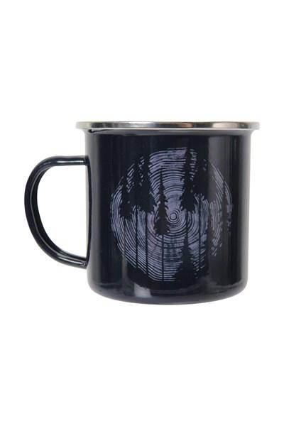 Wood Trees Enamel Mug - Navy