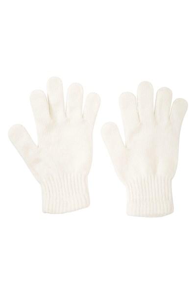 Chenille Womens Gloves - Cream