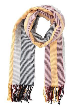 Stripe Womens Blanket Scarf