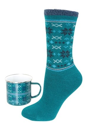 Enamel Mug & Sock Set - Womens