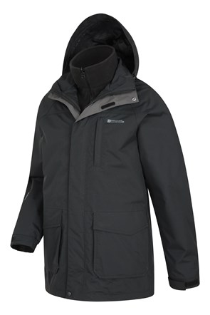 Glacier Mens Long 3 in 1 Waterproof Jacket