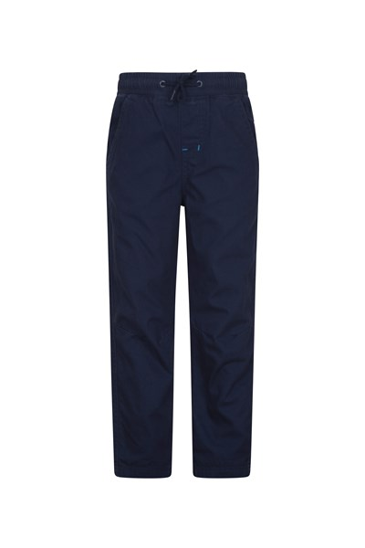 Pull Up Kids Jersey Lined Trousers - Navy