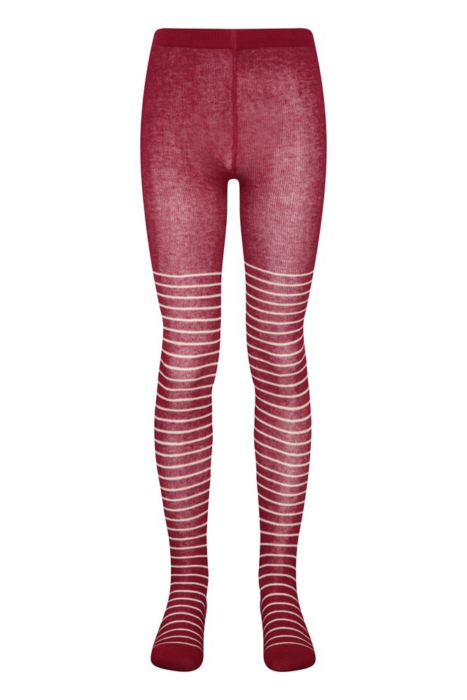 Girls Red Tag Black Thermal Tights Size UK  9-10yrs