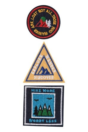 Patch Slogan - Lot de 3