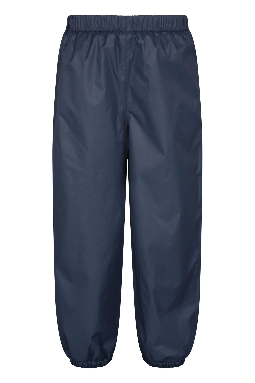 Kids Waterproof Fleece-Lined Rain Pants