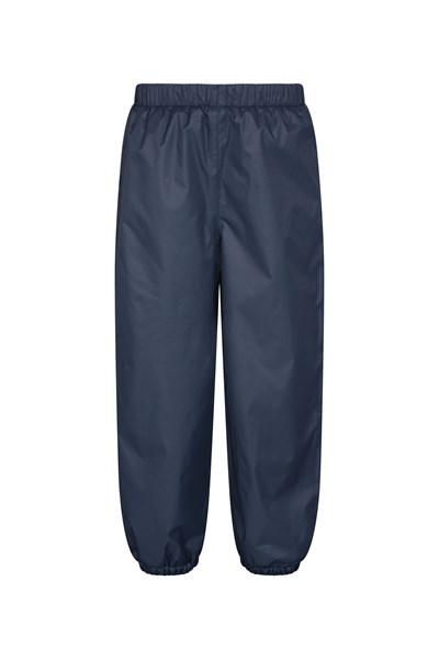 Waterproof Fleece Lined Kids Trousers - Navy