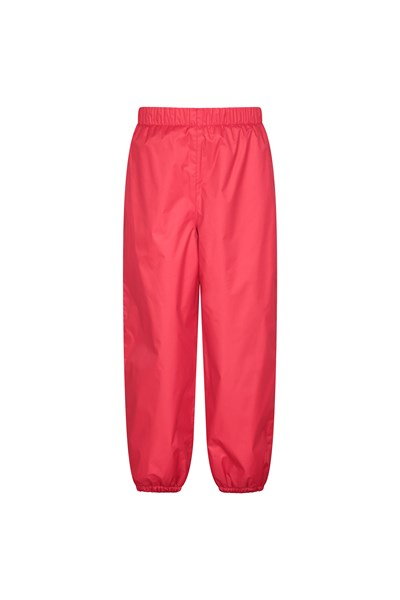 Waterproof Fleece Lined Kids Trousers - Red