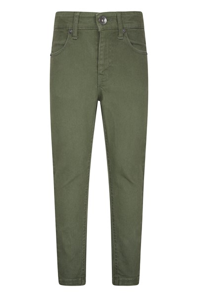 Kids Stretch Casual Trousers - Green