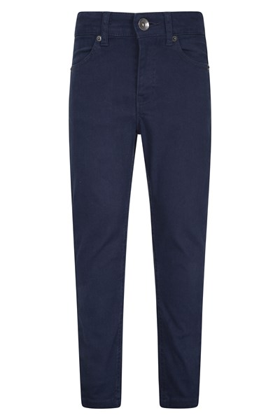 Kids Stretch Casual Trousers - Navy