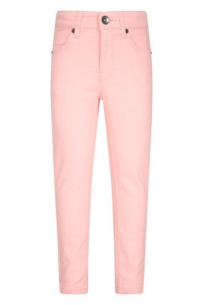 Kids Stretch Casual Trousers - Pink