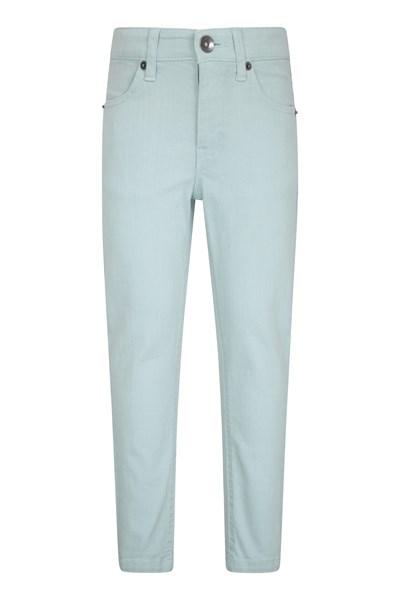Kids Stretch Casual Trousers - Teal
