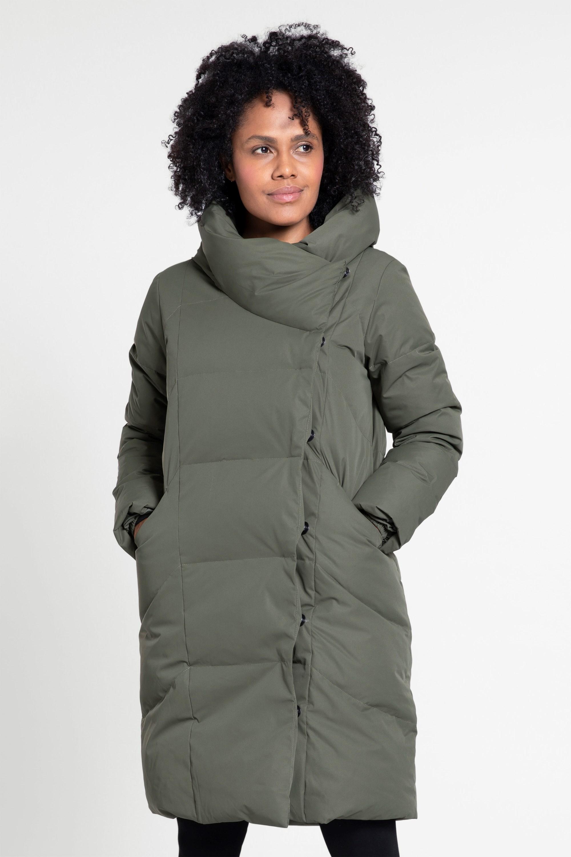 Cosy Wrap - damska kurtka puchowa - Green