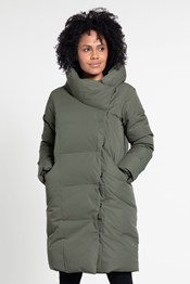 Cosy Wrap Womens Long Down Jacket