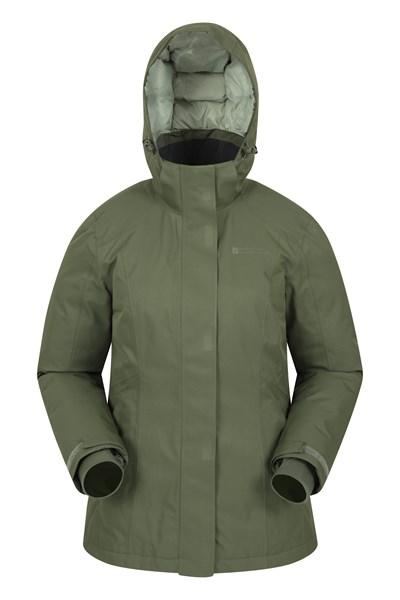 Glow Waterproof Womens Down Jacket - Green