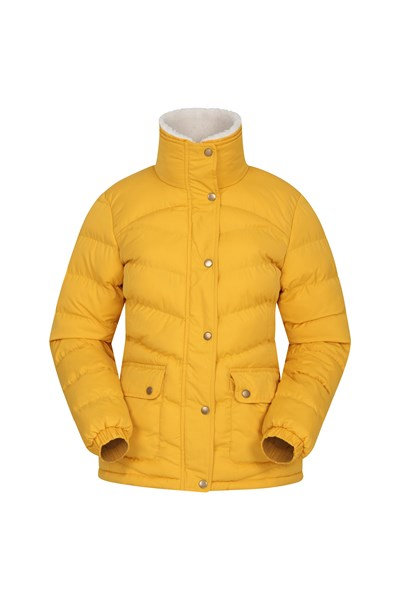 Fir Womens Padded Jacket - Yellow