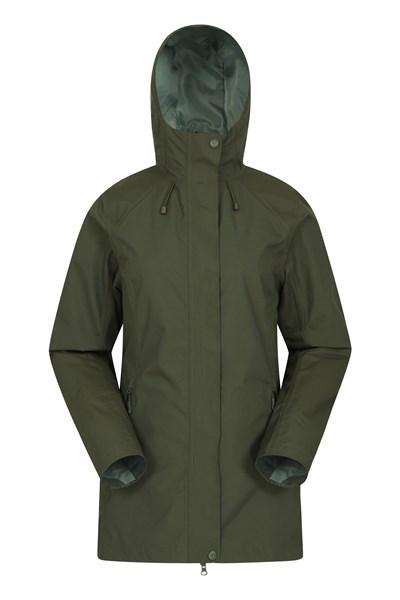 Rainstorm Womens Waterproof Jacket - Green