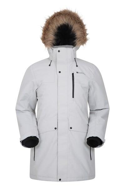 Arne Mens Long Padded Jacket - Grey
