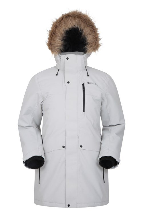 Mountain Warehouse Mens Waterproof Down Parka Jacket Winter Rain Coat