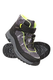 Camo Kids Lined Waterproof Boots