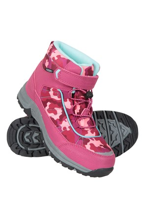 Camo Waterproof Kids Boots