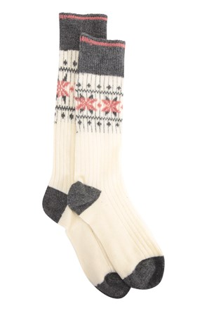 Cosy Womens Patterned Socks
