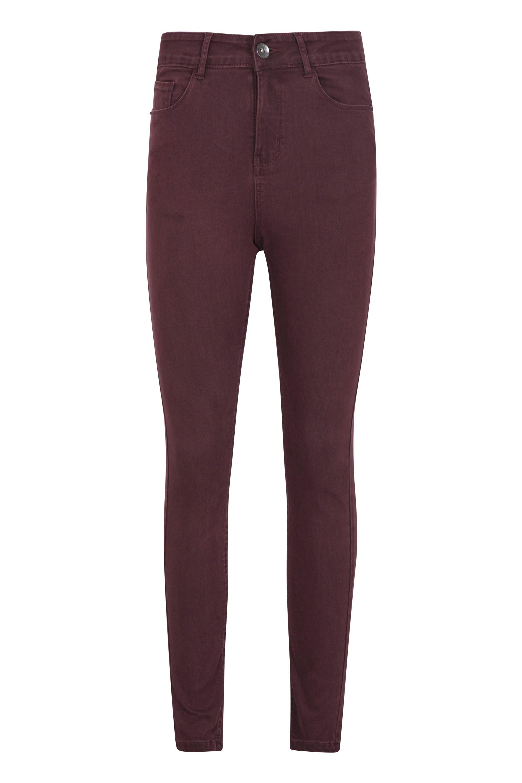 Casual - spodnie damskie - Burgundy