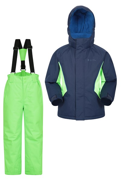 Kids Ski Jacket and Pant Set - Navy