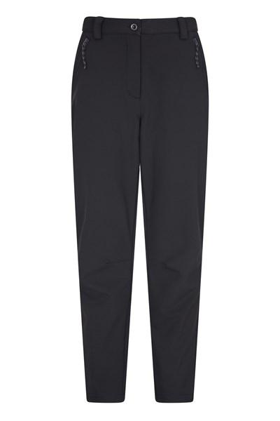 Softshell Womens Trousers - Short Length - Black