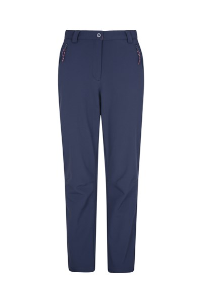 Softshell Womens Trousers - Short Length - Navy