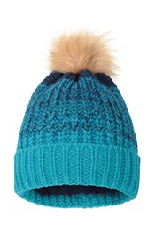 Multi Colour Womens Stripe Pom Beanie