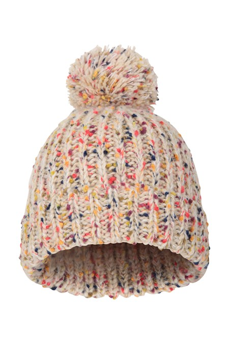 031827 RURAL SPECKLE WOMENS POM BEANIE