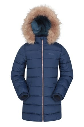 Galaxy Kids Water-resistant Long Padded Jacket