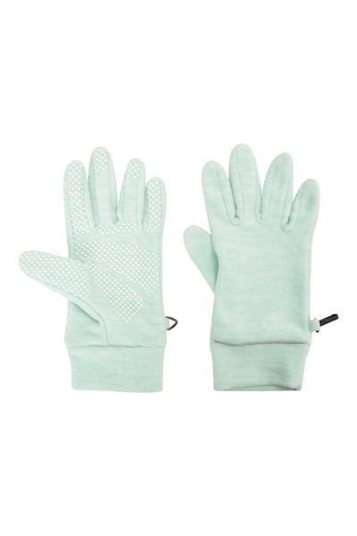 Thermal Womens Fleece Gloves - Green
