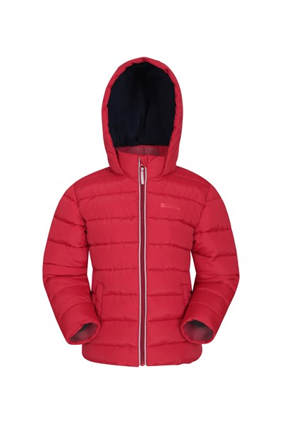 Eden Fleece Lined Kids Padded Jacket - Red